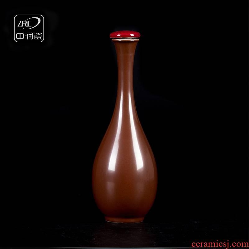 Jingdezhen ceramic bottles household archaize net bottles of goddess of mercy bottle bottle wine bottle bag in the mail