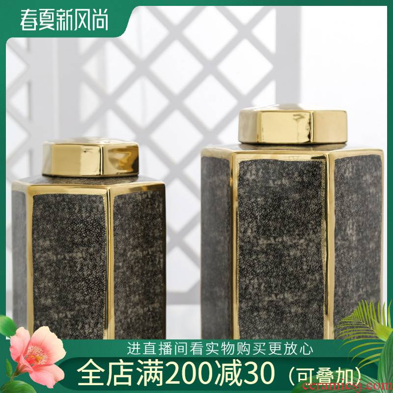 Jingdezhen ceramic vases, flower implement sitting room light key-2 luxury furnishing articles home household storage jar flower arranging restaurant decoration