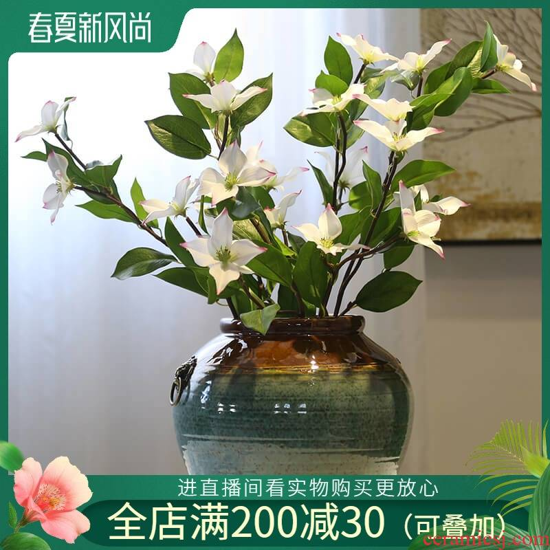 Jingdezhen mesa of new Chinese style originality vase villa living room table desktop decoration flower implement ceramic flower furnishing articles