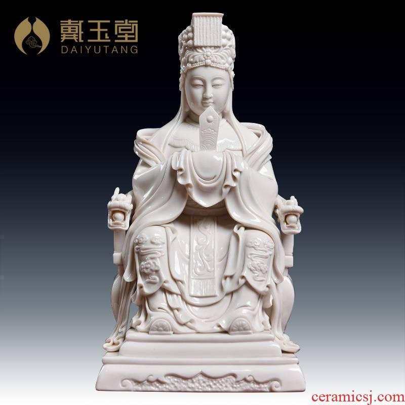 Yutang dai dehua ceramic Buddha home furnishing articles to bodhisattva statute of mazu empress ma zu/D18-45
