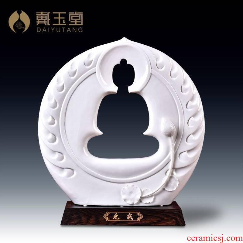 Yutang dai dehua ceramic home furnishing articles zen Buddha its art handicraft collection/not me