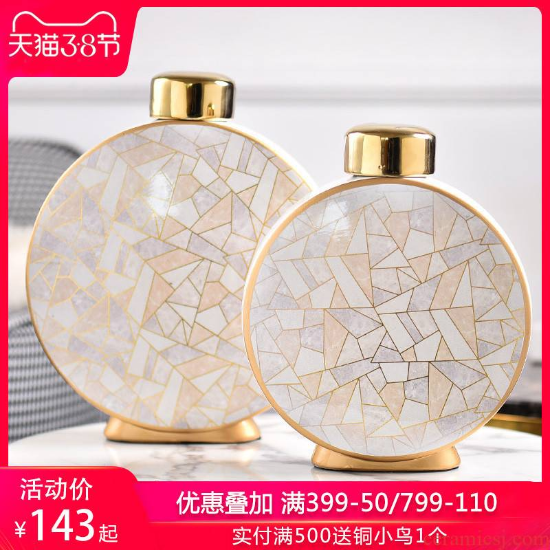 Light key-2 luxury furnishing articles contracted household act the role ofing is tasted flower arranging ceramic vase mesa of I sitting room adornment