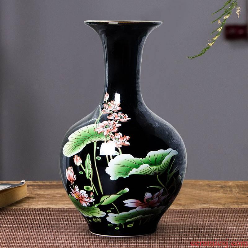 Jingdezhen ceramics floret bottle of flower arranging dried flower vase of porcelain of modern Chinese style household adornment sitting room ark, furnishing articles