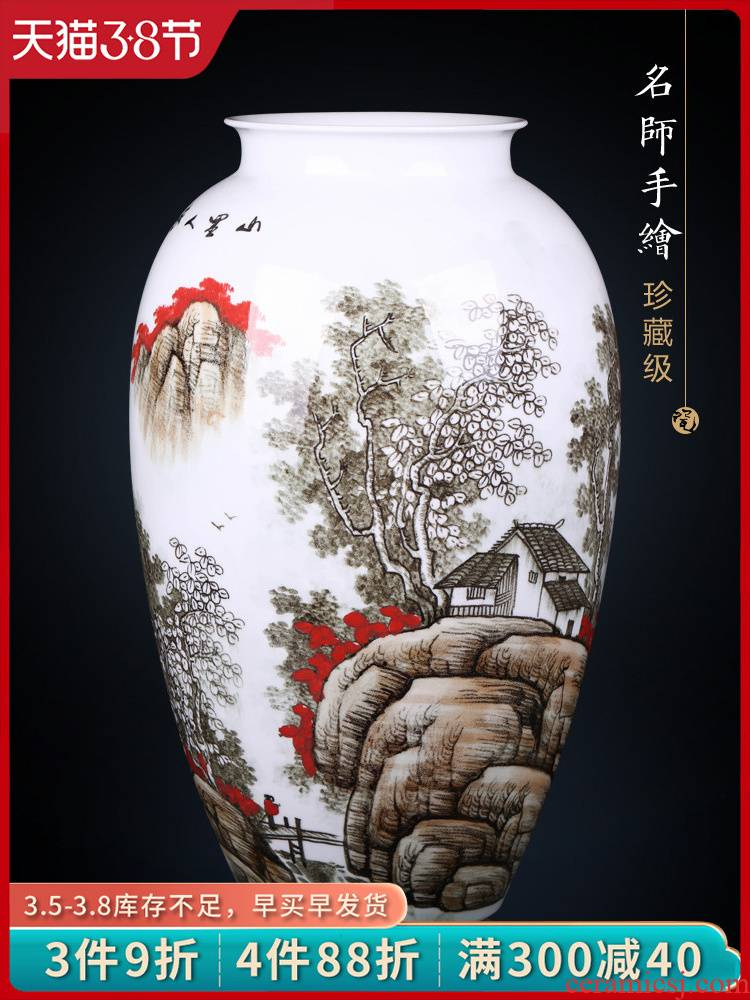 Jingdezhen ceramics furnishing articles TV ark, blue and white porcelain vase and the new Chinese style household flower arrangement sitting room adornment