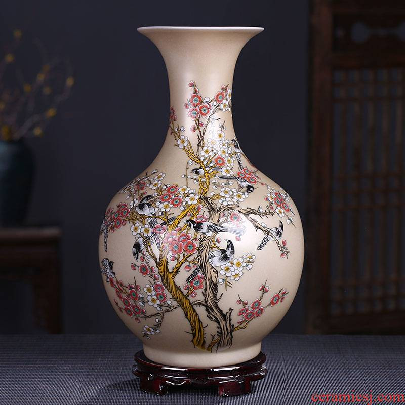 Good clubs at the jingdezhen ceramics powder enamel vase household adornment handicraft decoration furnishing articles in the living room