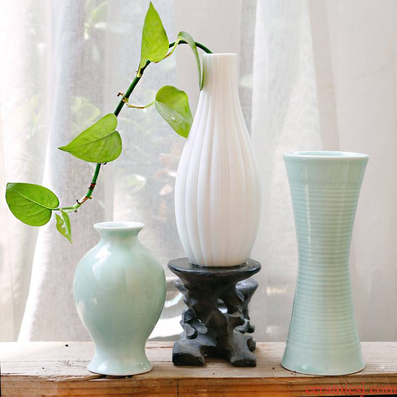 Sitting room place flowers other lucky bamboo hydroponic ceramic vase dried flower flower plant flowers, flowers home