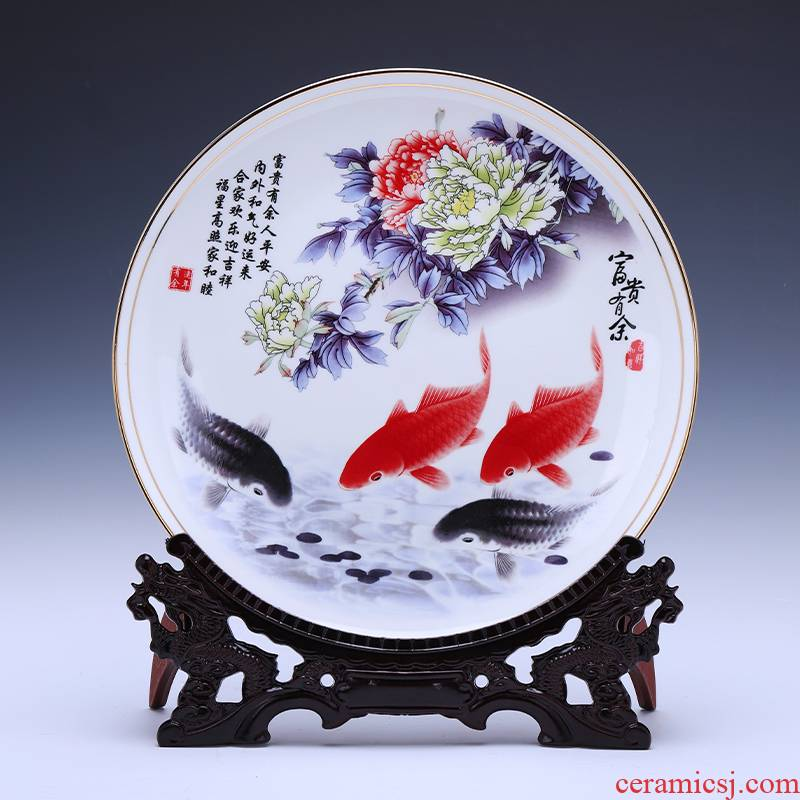 Jingdezhen ceramic hang dish place decoration plate well - off up phnom penh ipads porcelain Chinese key-2 luxury household act the role ofing is tasted