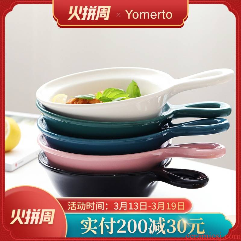 Yomerto northern wind for jobs ceramics microwave special large household ins lovely bowl bowl of oven