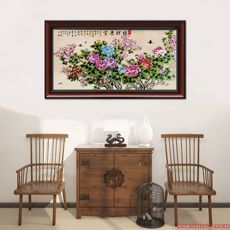 Jingdezhen ceramic plate Chinese style adornment painting the living room sofa setting metope hangs a picture corridor bedroom horizontal version of the murals