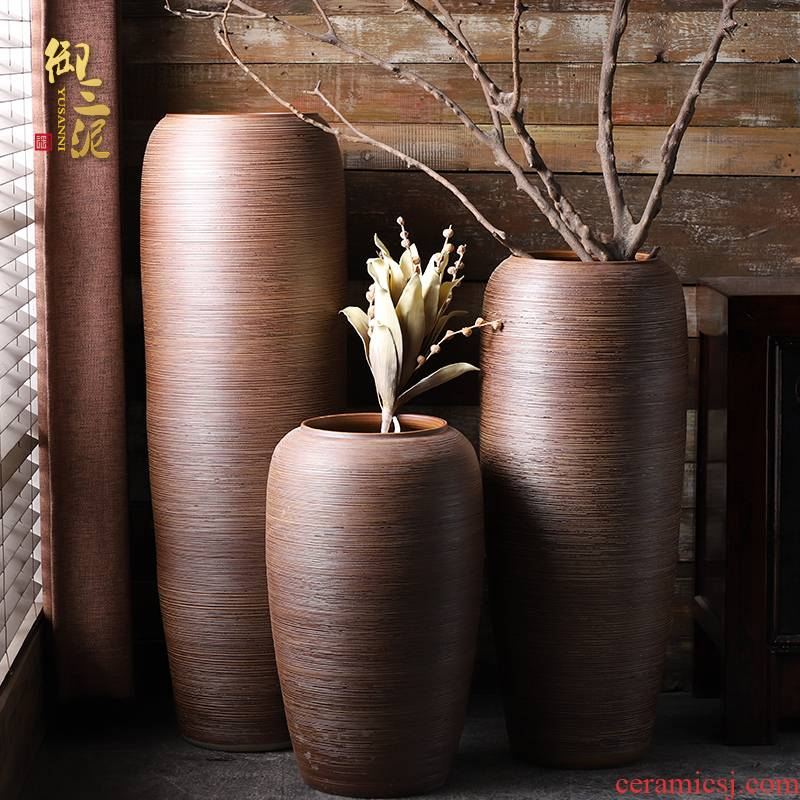Jingdezhen I and contracted ceramic vases, flower arranging furnishing articles sitting room be born large floral home decoration big flower pot