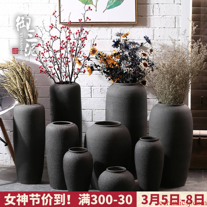 Vase furnishing articles ceramic flower arranging flower arranging I and contracted sitting room Nordic little pure and fresh and creative simulation flower, dried flower Vase