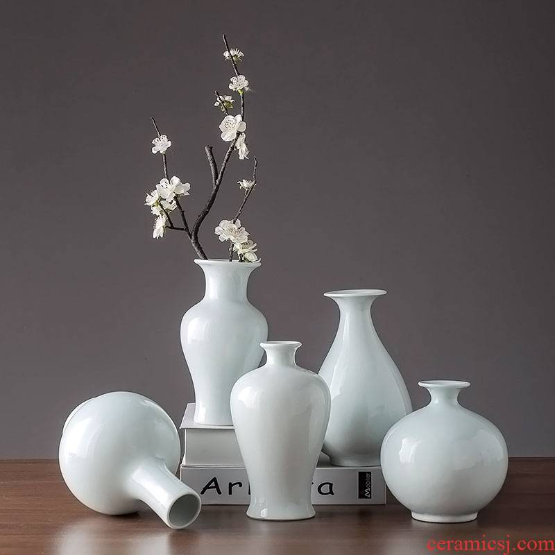 Modern new Chinese style table dry flower is placed flowers in jingdezhen ceramics decoration home sitting room adornment