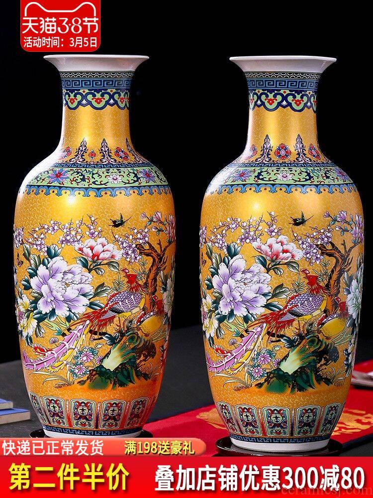 Jingdezhen ceramics Jane European - style large vases, flower arranging the modern Chinese style living room decorations TV ark, furnishing articles
