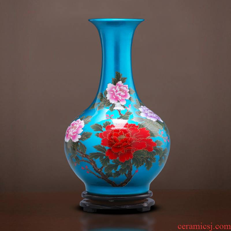 Jingdezhen ceramics glaze crystal vases, flower arrangement of Chinese style household furnishing articles, the sitting room porch ark adornment ornament