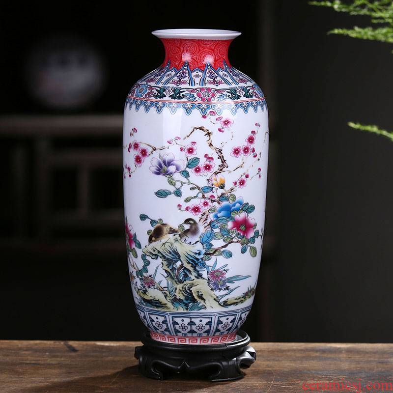 Jingdezhen ceramics floret bottle famille rose flower arranging new Chinese style home furnishing articles sitting room TV ark adornment ornament