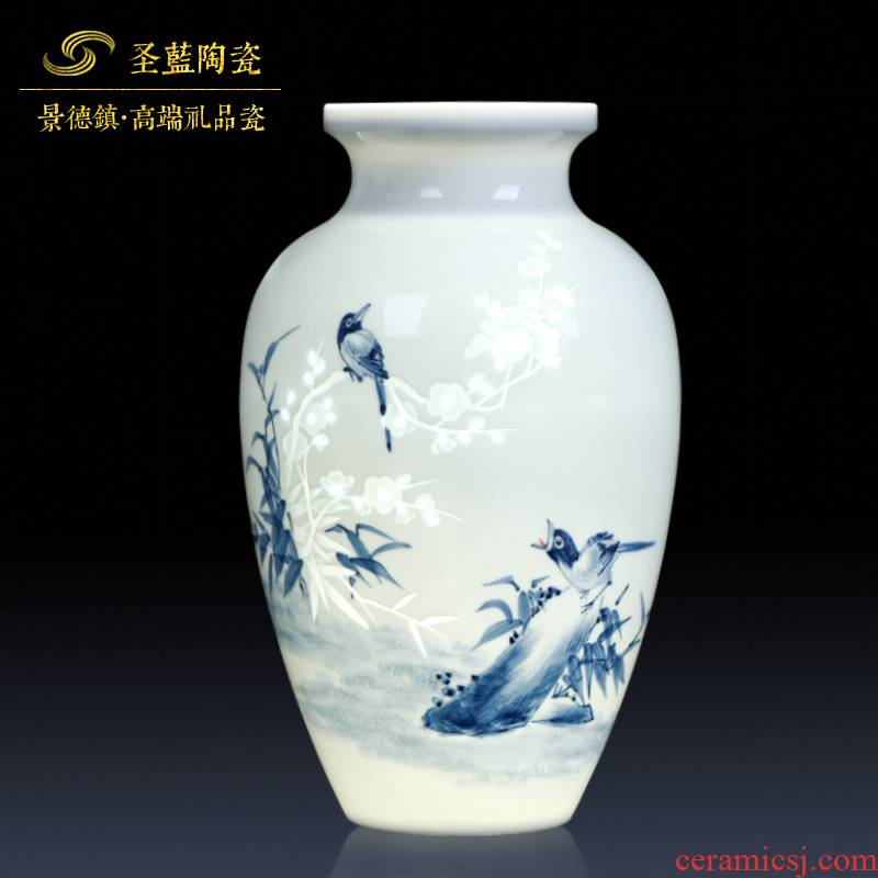 Jingdezhen ceramics hand - carved thin foetus beaming vases, flower arrangement sitting room adornment exquisite furnishing articles