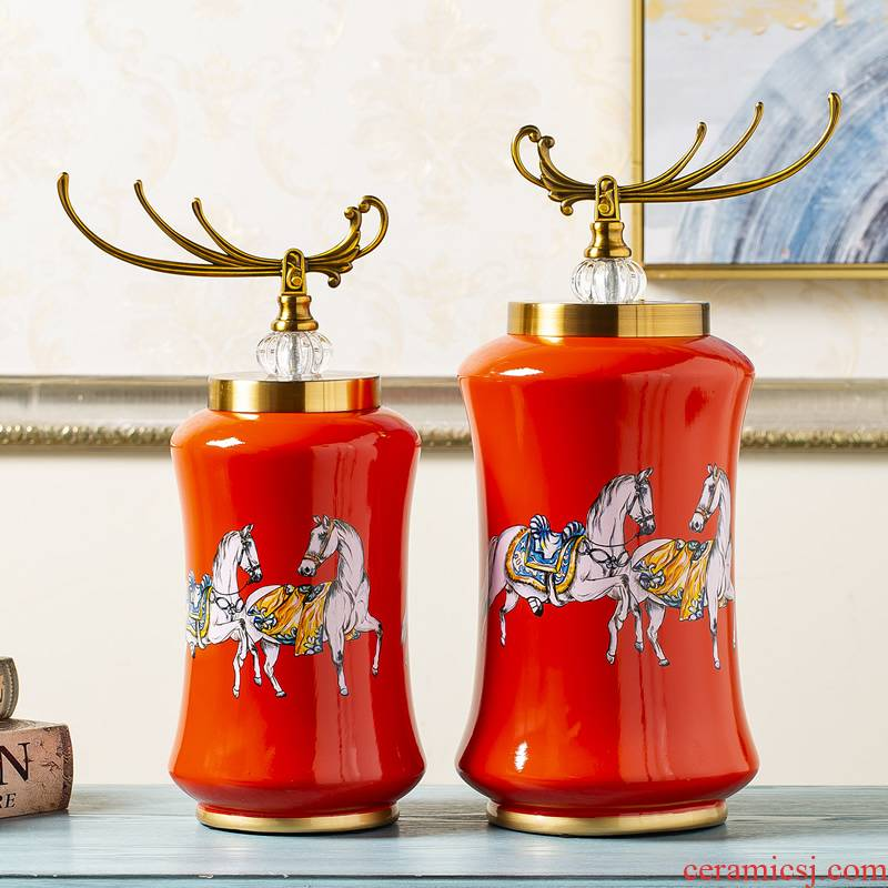 European American horse ceramic decorative furnishing articles household act the role ofing is tasted, the sitting room porch decoration of TV ark, wine accessories