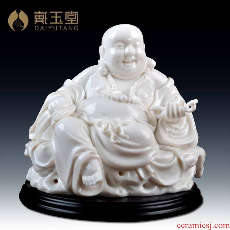 Yutang dai maitreya ceramics handicraft white marble porcelain its collection/satisfied smiling Buddha D01-025