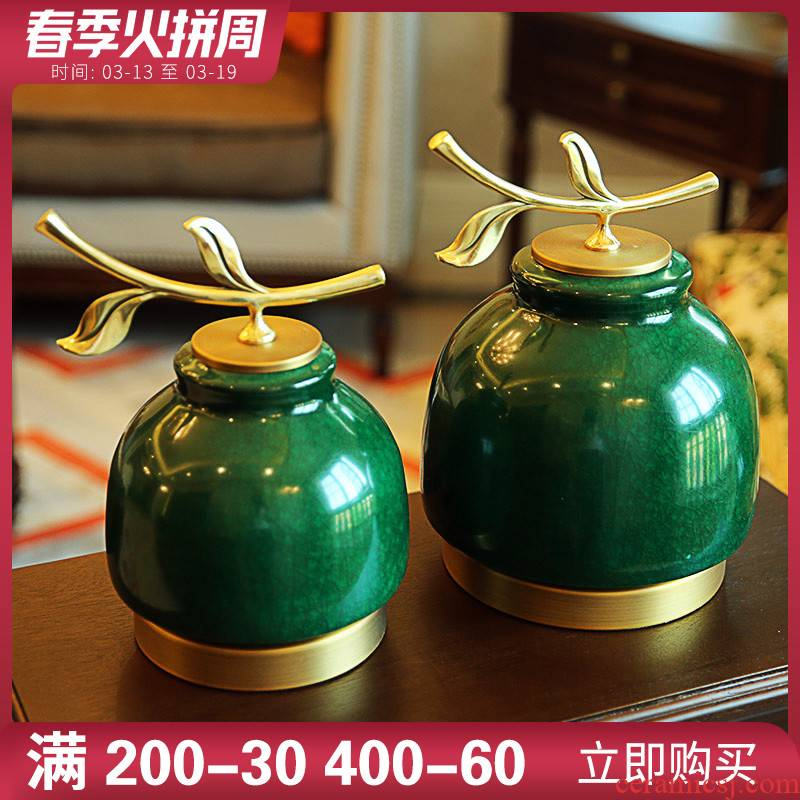 New Chinese style ceramic wine sitting room adornment is placed European beautiful household TV ark, fireplace porch desktop decoration