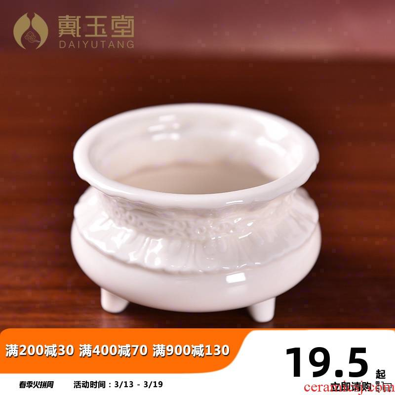 Yutang dai ceramic incense buner for buddhist indoor consecrate Buddha with supplies joss stick'm burning incense incense furnishing articles