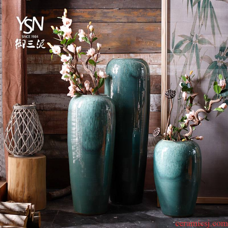 Nordic I and contracted, dried flowers sitting room ground ceramic vase flowerpot flower arranging pottery decorative furnishing articles Norway forest