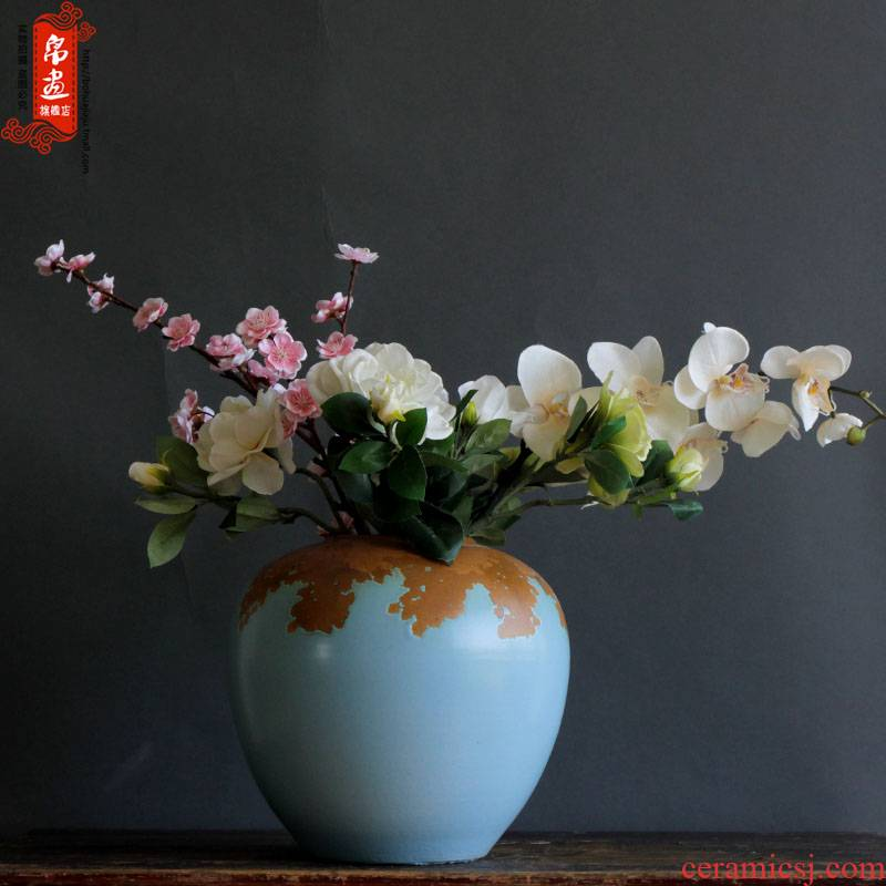Jingdezhen ceramic vase furnishing articles creative up porcelain decoration flower implement new contracted household decorates sitting room flower arrangement
