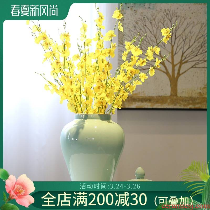 New Chinese style porch wine cabinet mesa decorative flower vase the general pot of tea pot money - box ceramic furnishing articles in the living room