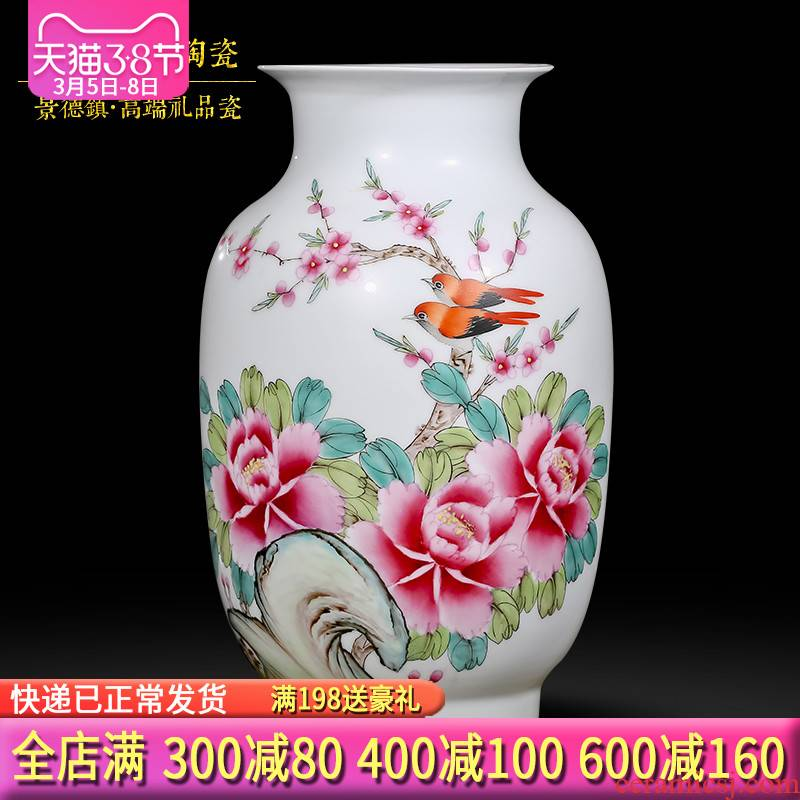 The Master of jingdezhen hand - made vases, modern Chinese style living room decoration ceramics handicraft furnishing articles high - end gift porcelain