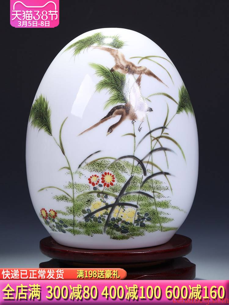 Jingdezhen ceramic vase furnishing articles sitting room adornment small ornament creative wine ark, of Chinese style household adornment furnishing articles