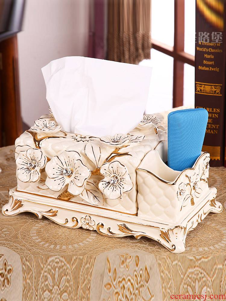 St way fort European creative tissue boxes sitting room tea table remote receive a case carton furnishing articles ceramic tissue box