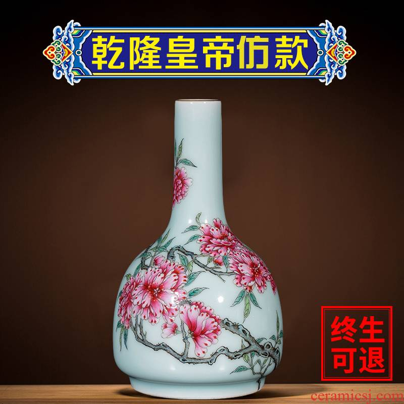 Better sealed up the hand - made floret bottle shadow blue glaze sitting room adornment porcelain jingdezhen ceramics furnishing articles rich ancient frame by hand