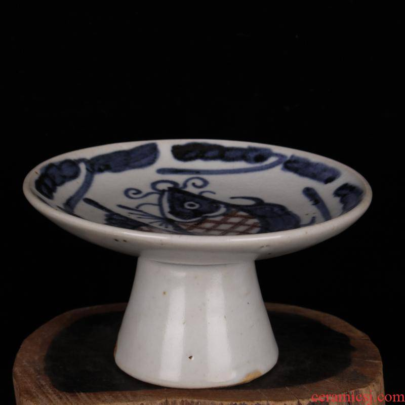 Archaize of jingdezhen blue and white porcelain best plate of restoring ancient ways household adornment furnishing articles, antique reproduction do old antique collection