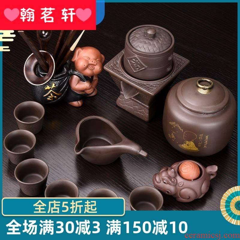 Tea sets automatic the variable kung fu Tea Tea set fit household ceramics semi automatic lazy people make Tea ware