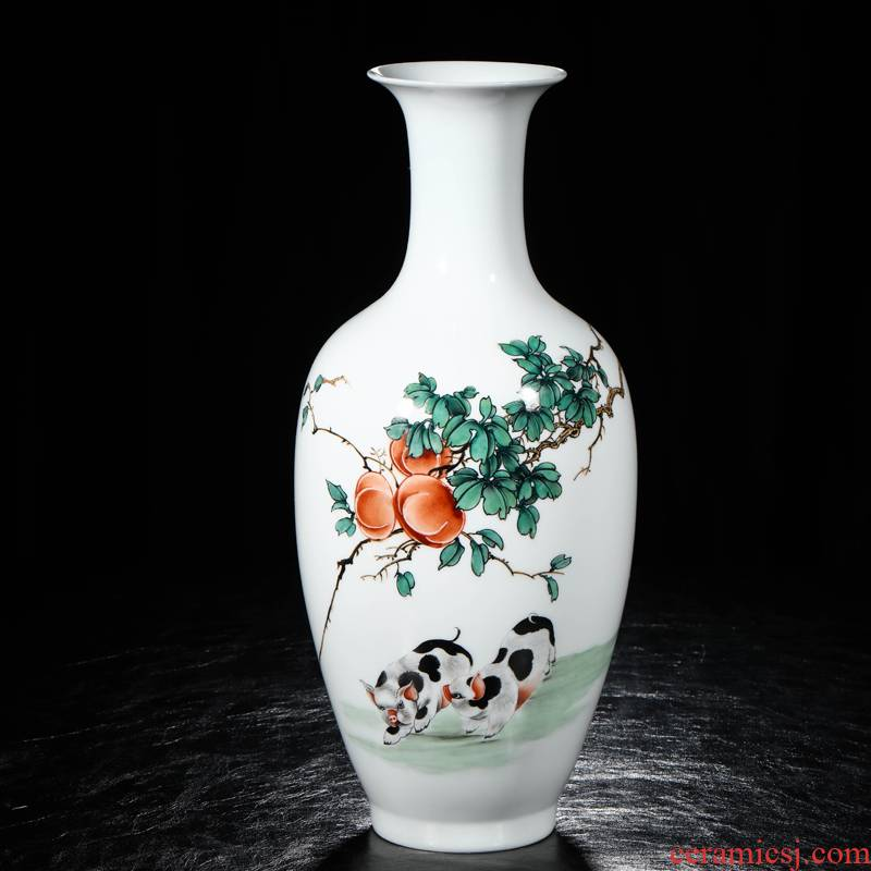 Master jia lage jingdezhen ceramic hand - made vases Zhang Quanzhi everything goes well with decorative vase ceramic furnishing articles