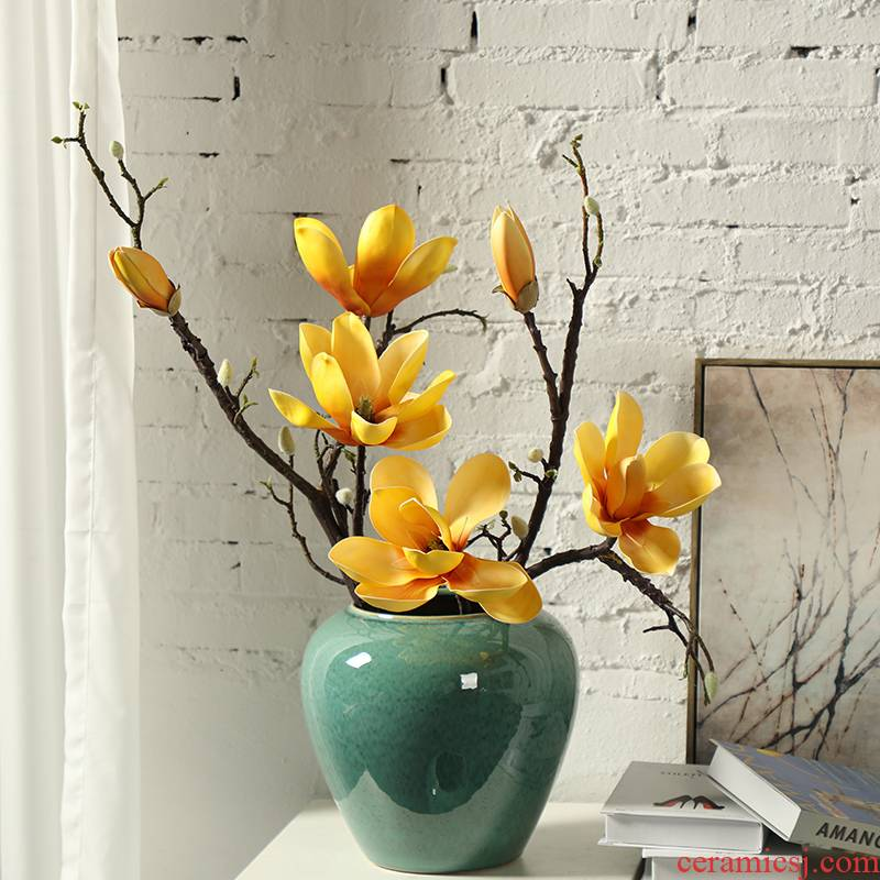 American ceramic dry vase creative flower arrangement is restoring ancient ways to decorate household act the role ofing is tasted contracted and I European furnishing articles in the living room