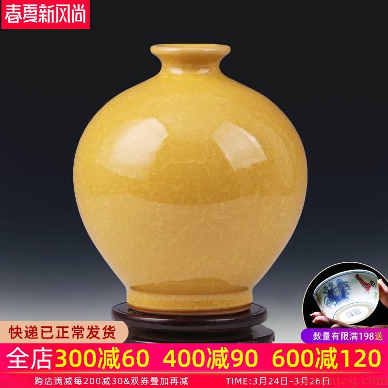 Sitting room place vase flower arrangement creative antique porcelain of jingdezhen ceramics TV ark, of Chinese style household ornaments