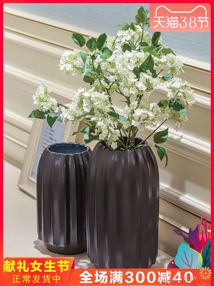European contracted ceramic vase furnishing articles home sitting room flowers, flower arranging dried flower adornment XuanGuang creative table decoration