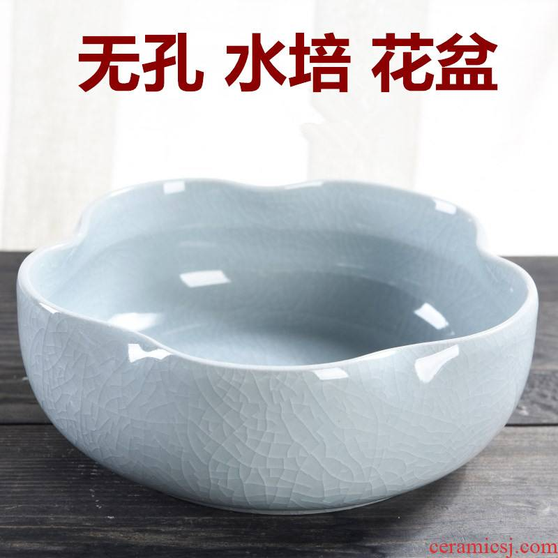 The Leaf of the lotus copper grass flower pot daffodil water lily bowl lotus non - porous ceramics special clearance hydroponic water raise more meat