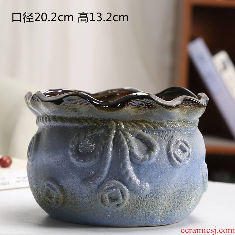 Fleshy old running the mage, compose of jade flower POTS of large diameter high butterfly orchid ceramic ceramic flower pot lotus orchid flower implement