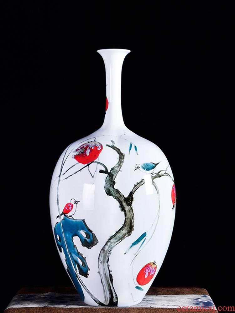 Jingdezhen ceramic masters hand - made the master powder enamel vase flower arranging gall bladder sitting room porch decoration handicraft furnishing articles