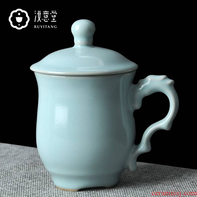 Your up porcelain teacup ceramic cups with cover leading Chinese mark cup cup cup men 's office business gifts