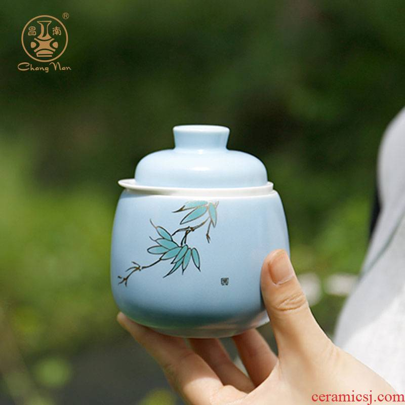 Chang south jingdezhen ceramic crack cup travel a pot of a portable personal gifts multi - purpose office tea set