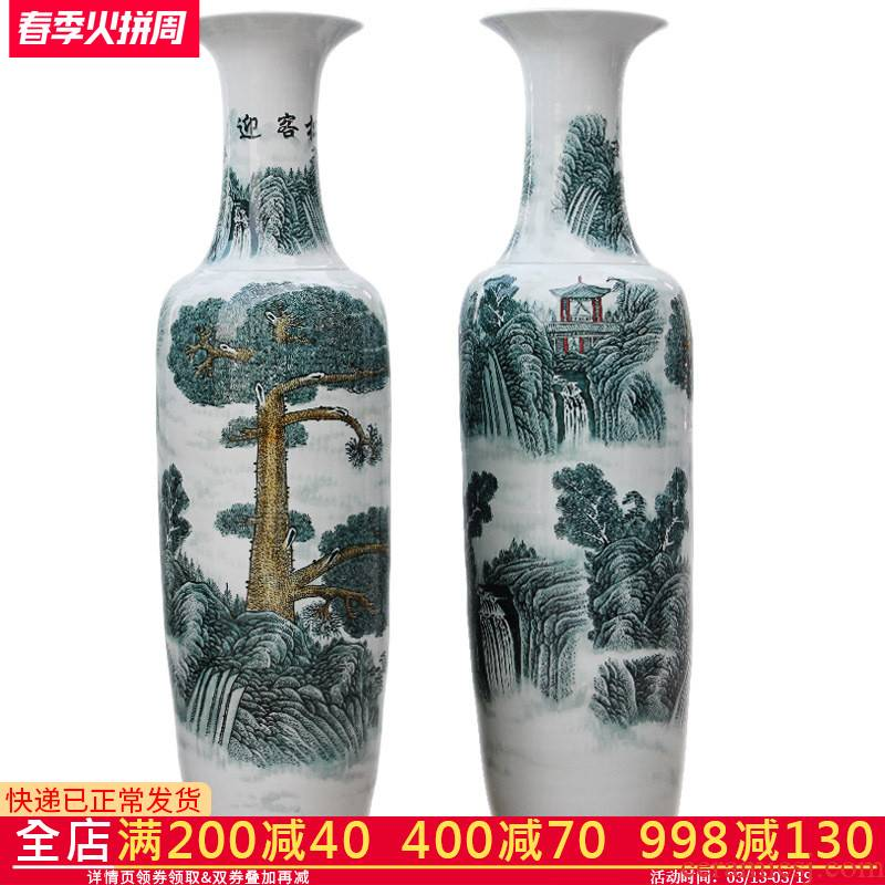 Archaize floor big e211 jingdezhen ceramics vase guest - the greeting pine home sitting room adornment hotel furnishing articles