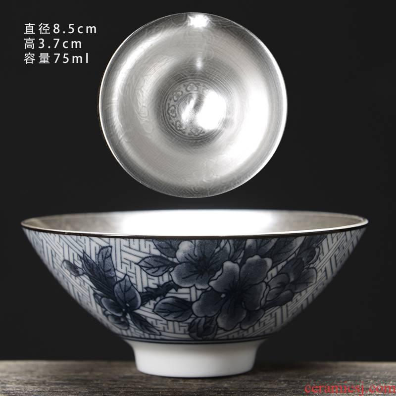 The Sample tea cup ceramic hat to single glass glaze porcelain tea master small tea cups, kung fu tea tea set personal cup
