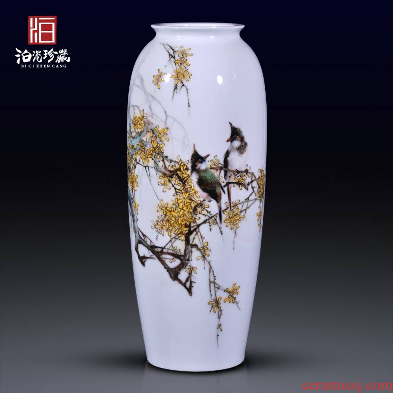 Jingdezhen ceramic painting birds and flowers in the vase rich ancient frame, the sitting room is the study of adornment of Chinese style household furnishing articles
