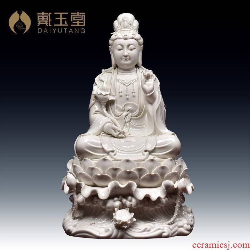 Yutang dai ceramic west three st furnishing articles of Buddha temple consecrate/22 inch lotus momentum to bodhisattva D21-38