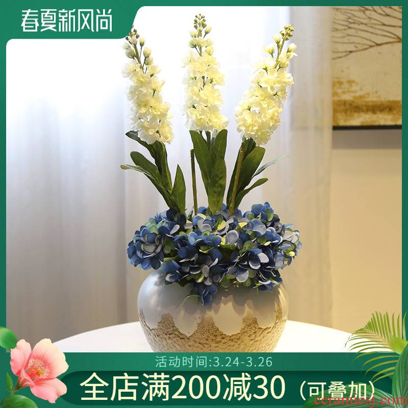 Creative jingdezhen ceramic vase furnishing articles of the sitting room TV ark, wine arranging flowers, flower implement home outfit decoration