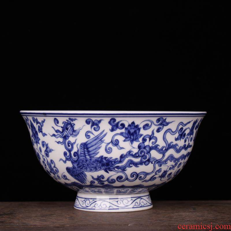 Jingdezhen porcelain in extremely good fortune always imitation qianlong porcelain Chinese style classical soft adornment art bowls furnishing articles