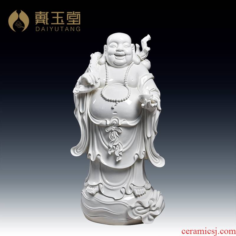 Yutang dai large laughing Buddha statute ceramics handicraft furnishing articles/1.1 meters large bag of maitreya D12-32