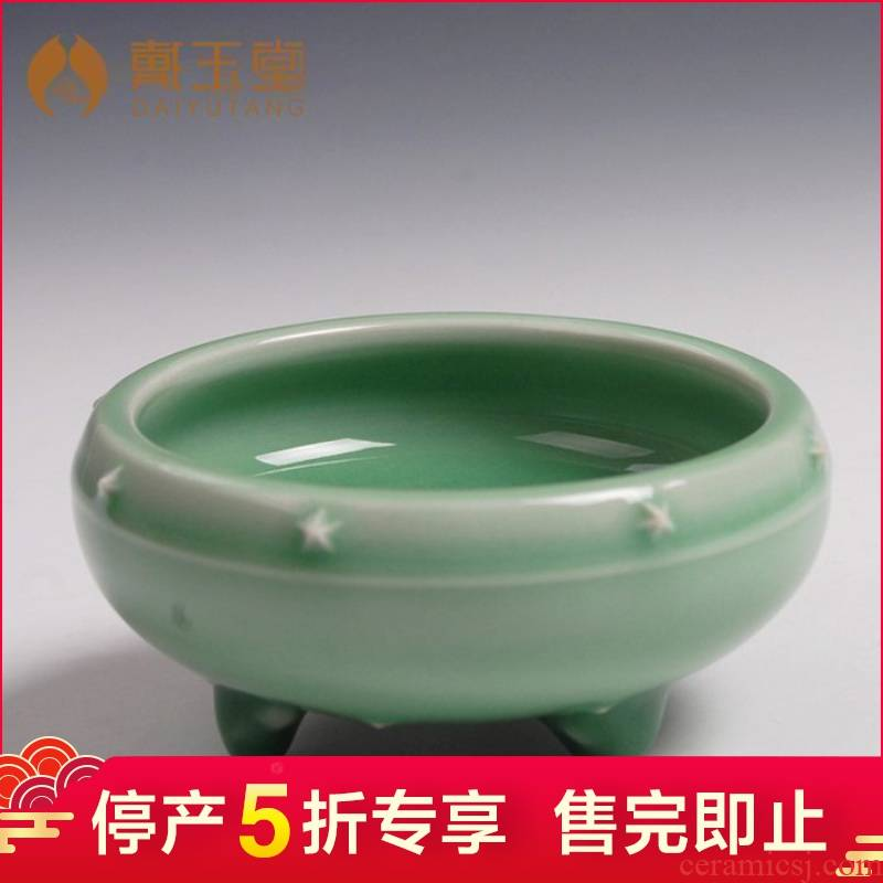 Longquan celadon production 5 fold 】 【 aromatherapy furnace manual censer consecrate Buddha with supplies ceramic household indoor